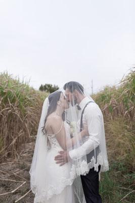 Romantisches Brautpaar-Shooting