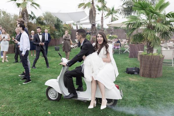 Shooting mit den Trauzeugen und der Braut