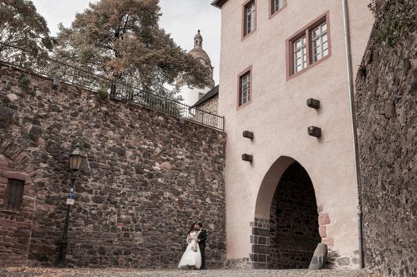 Hochzeit-Shooting in Frankfurt Höchst am Main