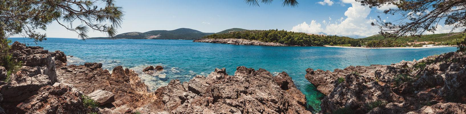 Beach Pržno - Plavi Horizont - Sauberes Meer und traumhafte Natur