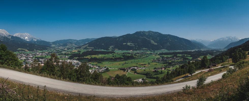 Berglandschaft bei Kehlbach - Panorama