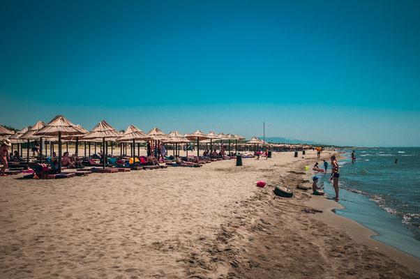 Der längste und der schönste Sand-Strand in Ulcinj, Montenegro