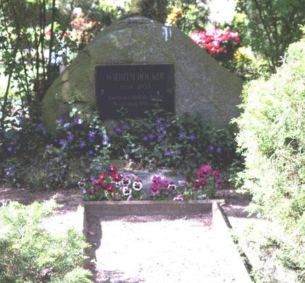 Friedhof Grabdenkmal W. Höcker