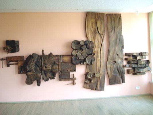 Auf diese Holzarbeit wurden wir durch eine Güstrowerin aufmerksam gemacht