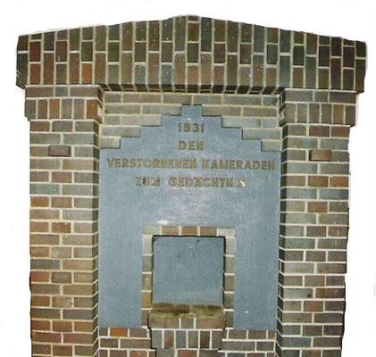 DEN VERSTORBENEN KAMERADEN ZUM GEDÄCHTNIS, 1931