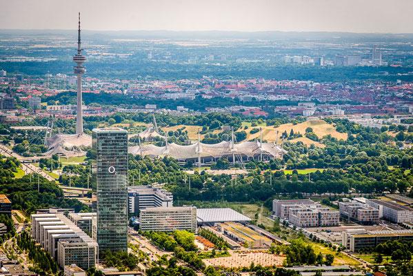Hubschrauberflug über München