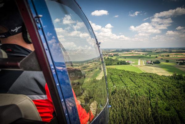 Hubschrauberflug München