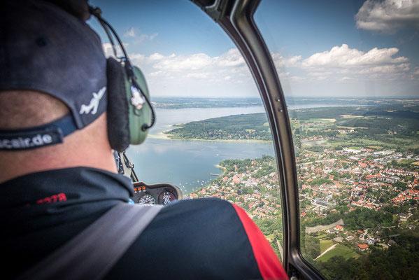 Hubschrauberrundflug Seentour