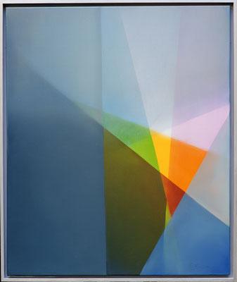Farbe zu Grau - Ölfarbe auf Leinwand - 100 x 90