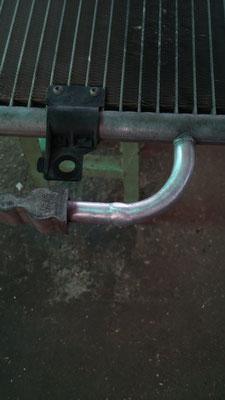 Reparación de radiador mediante soldadura en aluminio