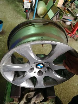 Llanta de aluminio bmw, reparación de fisura mediante soldadura aluminio
