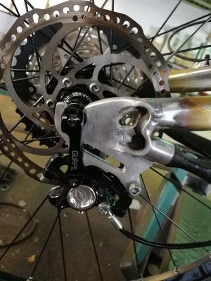 Modificación en chasis de aluminio bici de 26 pulgadas a 27,5 pulgadas.