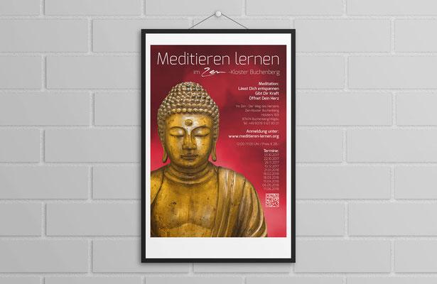 """Plakat """"Meditieren lernen"""""""