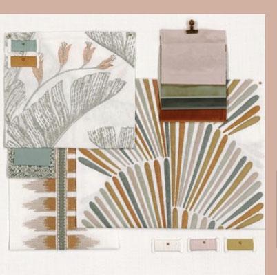 Tissus et papiers peints distribués par Ecoute-Bergère