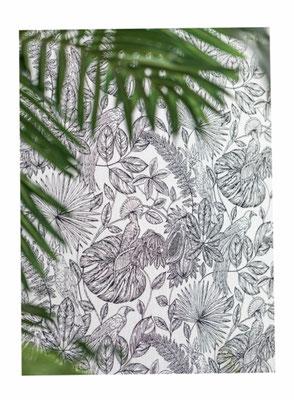 tissus et papier peints distribués par Ecoute-Bergère