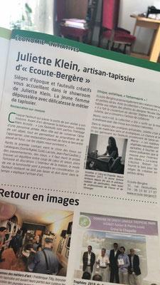 Un artisan tapissier reconnu - Crécy-la-Chapelle