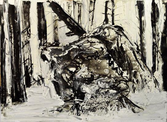 5.Broken Tale.120x80cm, mix technique on wood 2015, by Pawel Kleszczewski
