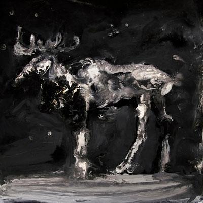 6, Broken Tale 15x15cm, acrylic on paper, 2015, by Pawel Kleszczewski