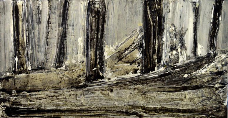 2.Broken Tale.120x60cm, mix technique on wood by Pawel Kleszczewski