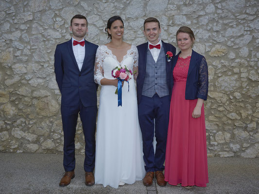 Mariage groupe famille