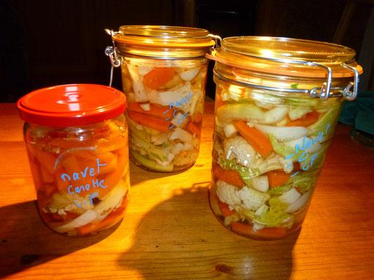 Pickels  choux fleur / navet / carotte...