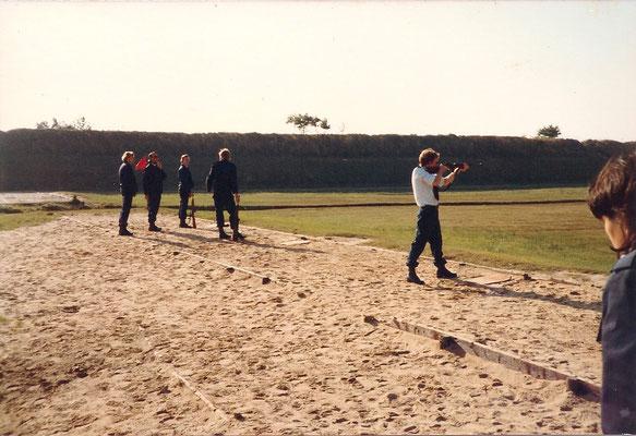 GEWA opleiding aug 1980 Witten (Assen)  schietbaan