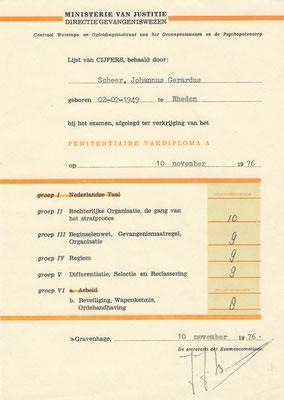 GEWA examenvakken 1976