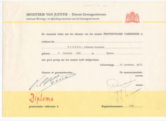 GEWA diploma scheer 1976