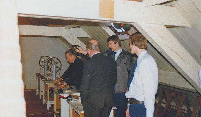 Huub Dijns, Theo Daams, Brigadier de Vries en Brigadier Kroes