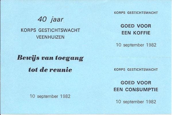 Bewijs van toegang reünie 40 jaar
