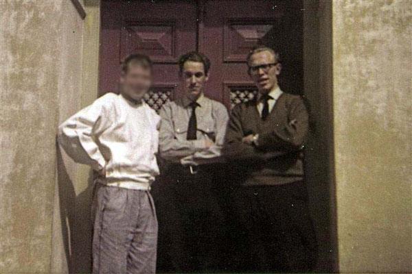 Rijksasiel Veldzicht tbs'er (Kok) met Hans Rappard en Harry Renkema 1966