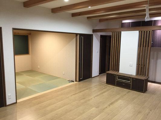 リビング和室・床暖房