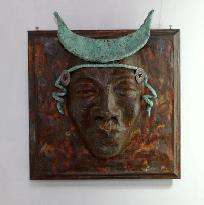 Coppia donna , 45 x 40 x 16 cm