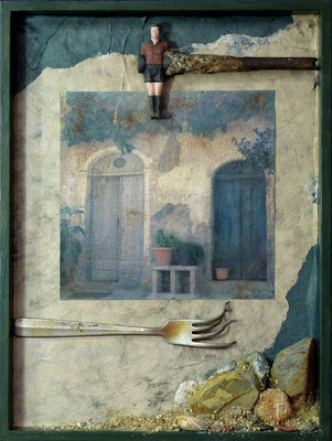 Villaggio, 40 x 30 cm
