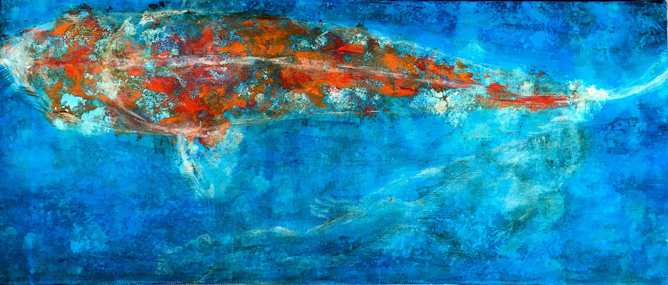 Into the water 30 x 70 cm