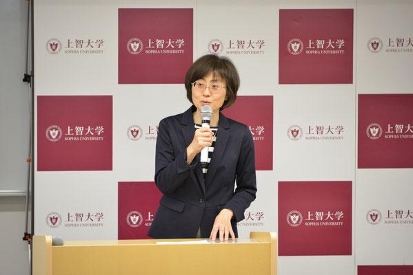 子安昭子教授の挨拶
