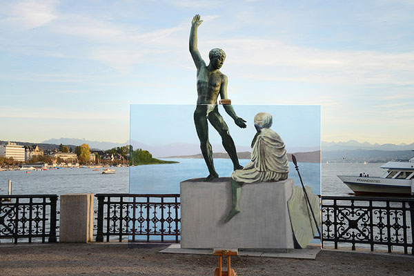meeting of statues, 2014, Digiprint/Aludibond, 105x157