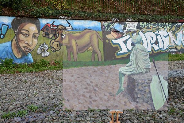 Schweiztourismus 2014, Digiprint/Aludibond, 105x157
