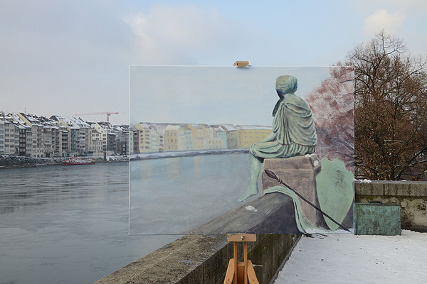 Reisemüde, 2014, Digiprint/Aludibond, 105x157