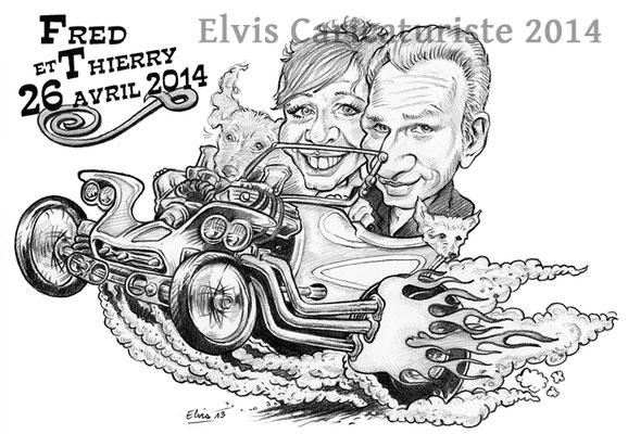 Caricature faire-part - Elvis caricaturiste