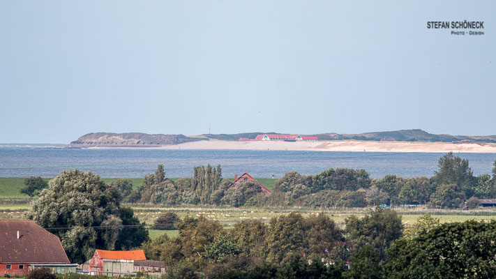 Blick zum Westende von Spiekeroog.