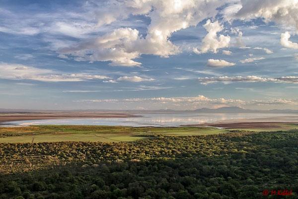 Blick über den Lake Manyara