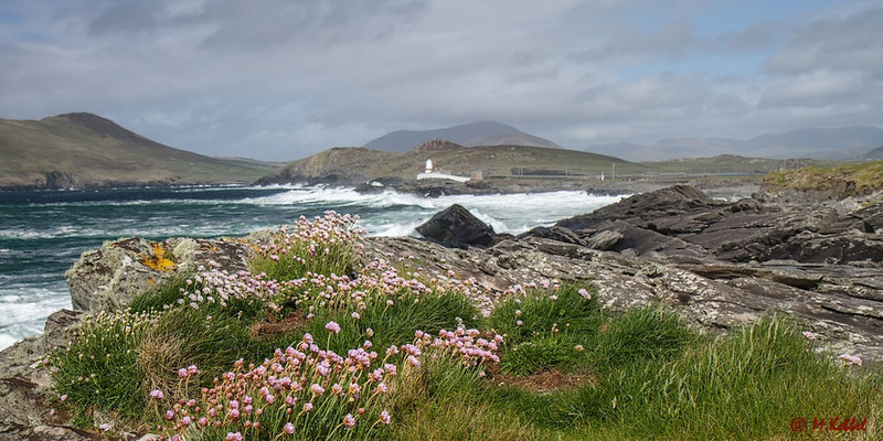 Blick auf den Leuchtturm von Valentia Island