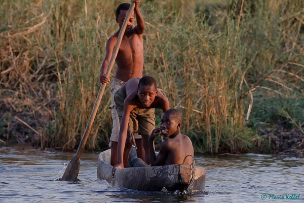 Fortbewegung im Okavango Delta