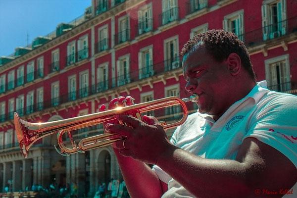 Strassenmusiker auf dem Plaza Mayor