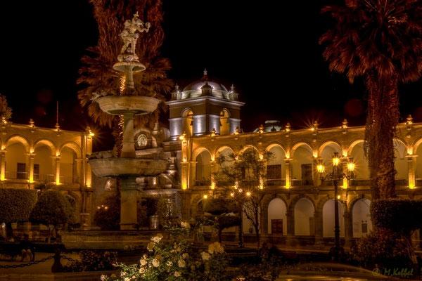 Der Plaza de Armas in Arequipa