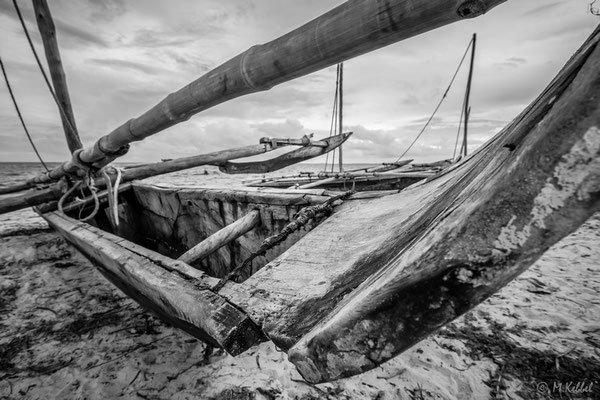 Fischerboot in Bagamoyo