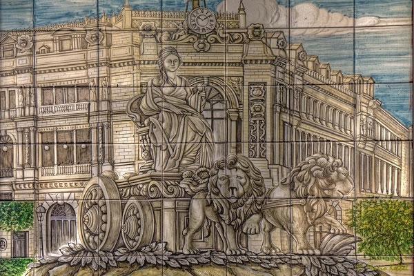 Fuente de la Cibeles als Fliesenbild