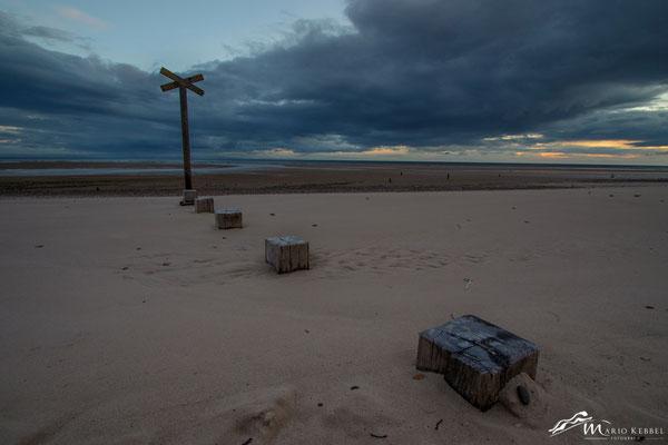 Findhorn Beach vor Sonnenaufgang