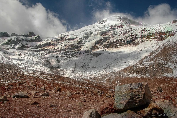 Auf dem Vulkan Chimborazo in 5600m Höhe